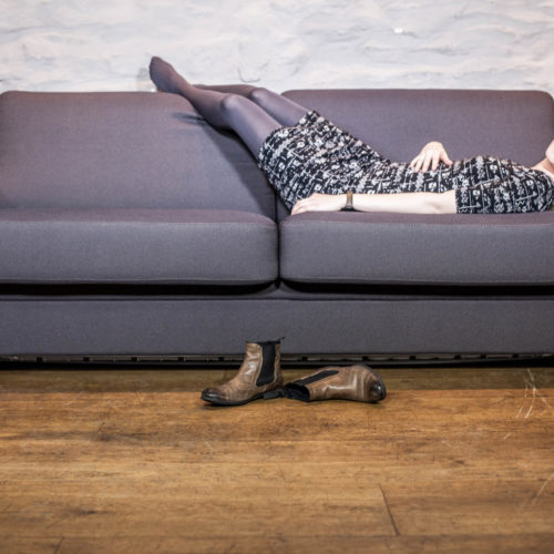 Airfect Schlafsofa in anthrazit mit Model